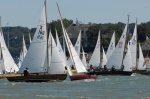 Pretty XODs X166 Swallow & X86 Aora mingle with the fleet for a start in Cowes.